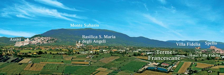 mappa umbria terme francescane